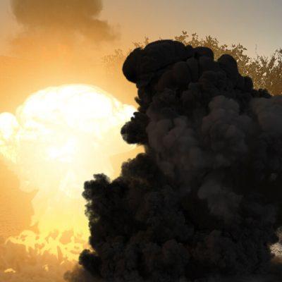 آموزش ساخت صحنه انفجار به همراه دود و گرد و خاک در افترافکت